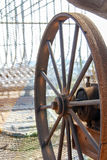 Large metal wheel Royalty Free Stock Photography