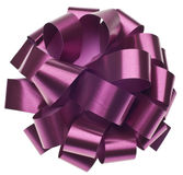 Large Metallic Purple Gift Bow Stock Photos