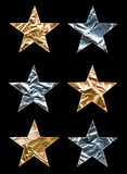 Large Metallic Stars Stock Image