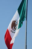 A large Mexican flag. Flapping in the wind royalty free stock photography