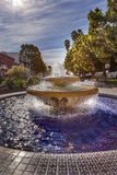 Large Mexican Tile Fountain Sunlight Ventura California Stock Photos