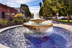 Large Mexican Tile Fountain Ventura California Royalty Free Stock Image
