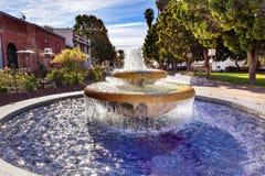 Large Mexican Tile Fountain Ventura California royalty free stock image