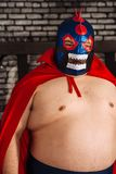Large Mexican wrestler royalty free stock photos