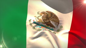 Large mexico national flag waving stock video