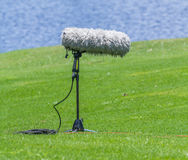 A large microphone boom with stand. Stock Image