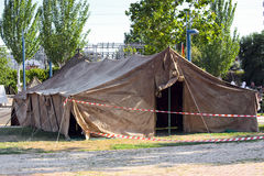 Large military tent Royalty Free Stock Images