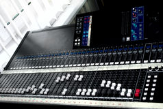 Large mixing console Royalty Free Stock Photo