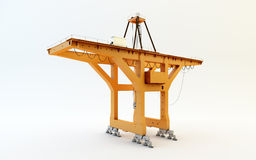 Large mobile container Cargo harbor crane Royalty Free Stock Photo
