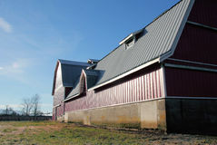 Large Modern Barn with Metal Roof Stock Photography