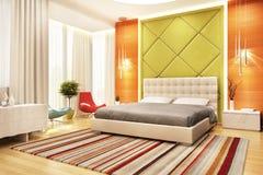 Large modern beautiful bedroon design. Modern large beautiful bedroon design royalty free illustration