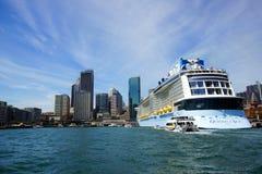 Cruise Ship Docked at Circular Quay, Sydney, Australia Stock Images
