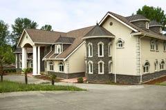 Large Modern Custom Home Stock Image