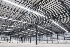 Large modern empty storehouse Stock Photography