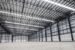 Large modern empty storehouse Royalty Free Stock Photo