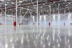 Large modern empty warehouse. New Large modern empty warehouse Stock Photo