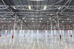 Large modern empty warehouse. New Large modern empty warehouse Stock Images