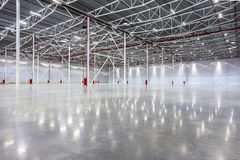 Large modern empty warehouse. New Large modern empty warehouse Royalty Free Stock Images