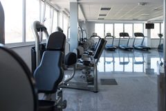 Large Modern Gym With Workout Equipment Royalty Free Stock Image