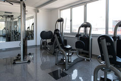 Large Modern Gym With Workout Equipment Stock Photos