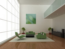 Large modern interior Stock Photos
