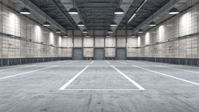 Large modern storehouse with some goods Stock Photography