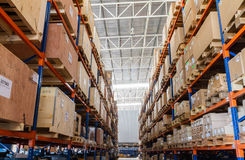 Large modern warehouse Royalty Free Stock Photos