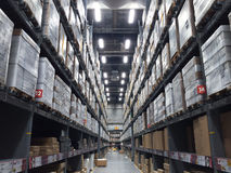 Large modern warehouse Royalty Free Stock Photography