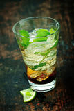 Large mojito rum cocktail Royalty Free Stock Image