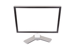 Large monitor on a white background Royalty Free Stock Photo