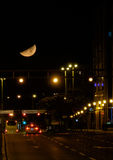 Large moon in Zagreb Royalty Free Stock Photography
