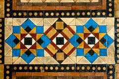 Large Mosaic Floor Tiles. Worn Chunky Mosaic Floor  Tiles in Geometric Pattern Stock Photography