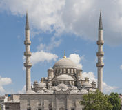 Large mosque against blue sky Stock Photo