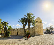 A large mosque in the town of Sousse in Tunisia against the back Stock Photo