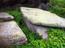 Large Moss Covered Rocks Royalty Free Stock Photos