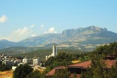 Large mountain in Alushta, Crimea. Famous bear mountain in Crimea, Ukraine Royalty Free Stock Images