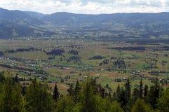 Large mountain valley saru Dornei area Stock Photography