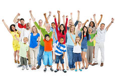 Large Multi-Ethnic Diverse Mixed Age People Stock Images
