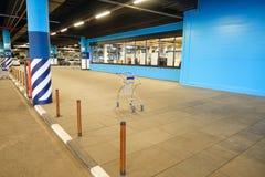 Large multi-storey underground car parking garage stock photography