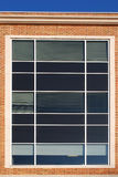 Large multi-storey window. On a modern building stock photo