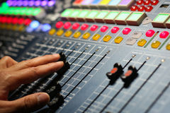 Large Music Mixer desk Royalty Free Stock Photo