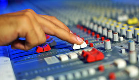 Large Music Mixer desk Stock Images