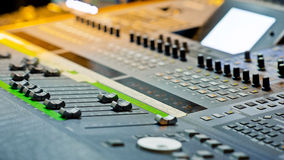 Large Music Mixer desk Royalty Free Stock Images