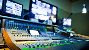 Large Music Mixer desk Stock Image