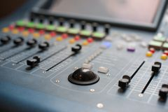 Large Music Mixer desk Stock Photography