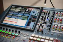Large Music Mixer desk Royalty Free Stock Photography