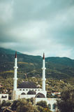 Large Muslim mosque with two minarets in Bar, Montenegro. Large Muslim mosque with two minarets in old Bar, Montenegro Stock Image