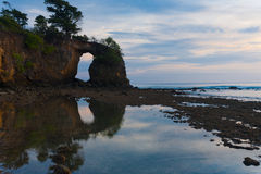Large Natural Bridge Reflected Low Tide Neil Stock Images