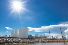 Large natural gas storage tanks Stock Photos