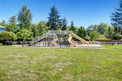 Large neighborhood playground for kids Stock Photography